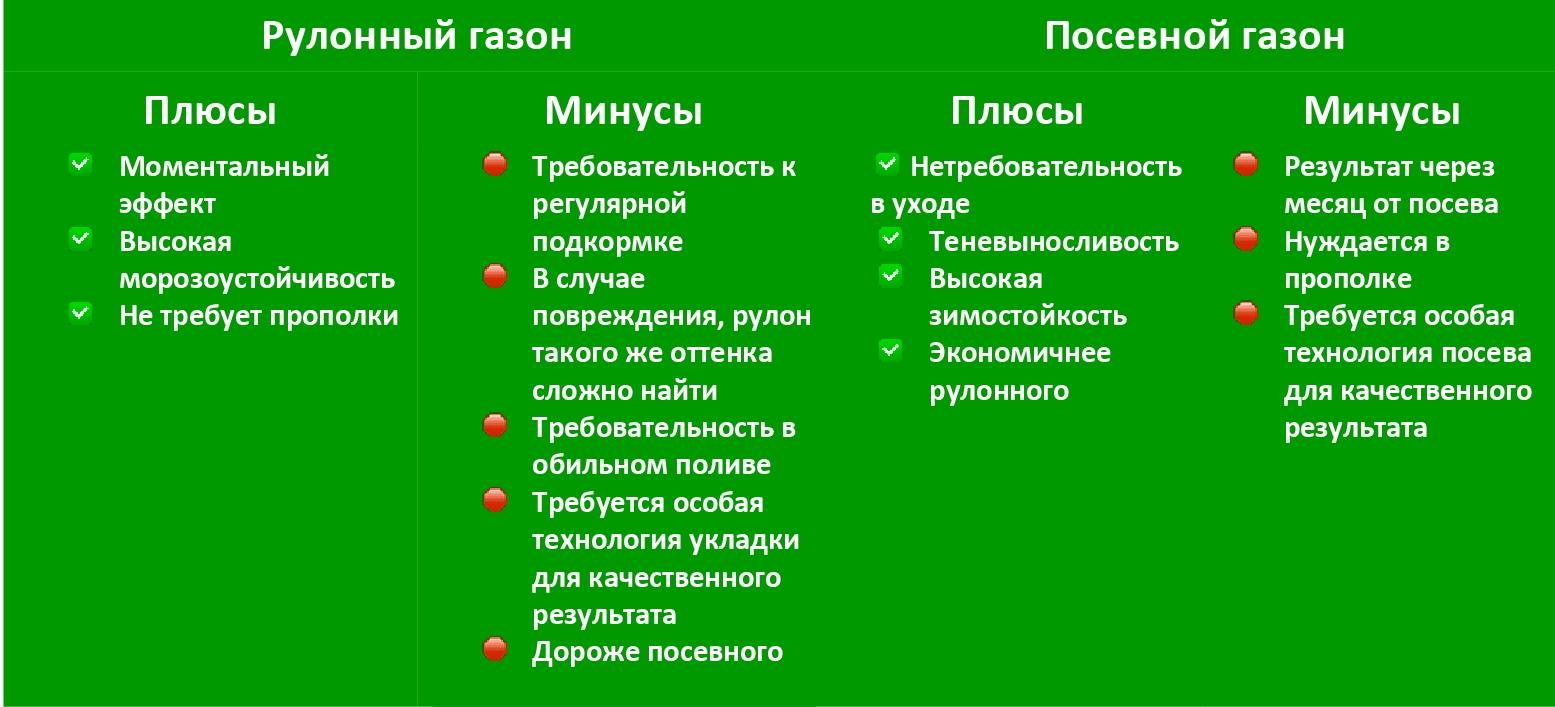 Что выбрать рулонный или посевной газон